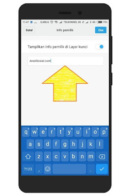 Langkah Langkah Membuat Nama Pemilik di Layar Kunci Xiaomi 4