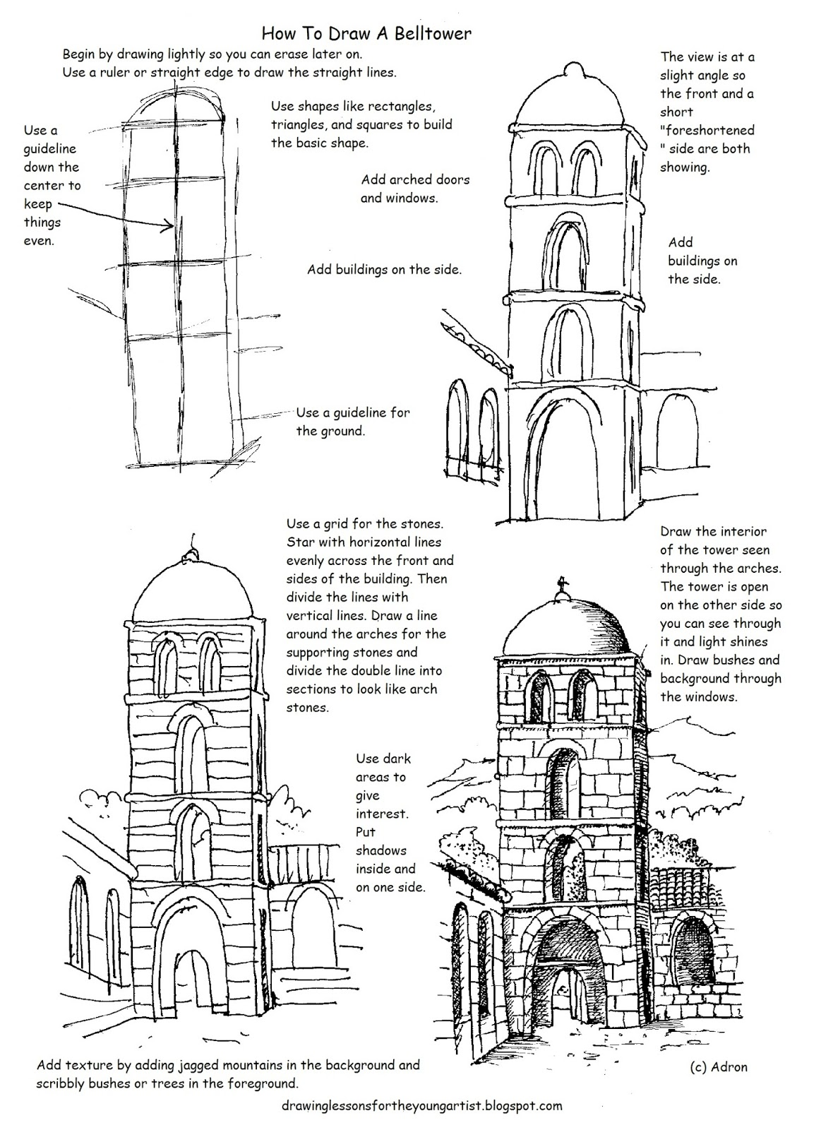 How To Draw Worksheets For The Young Artist Free