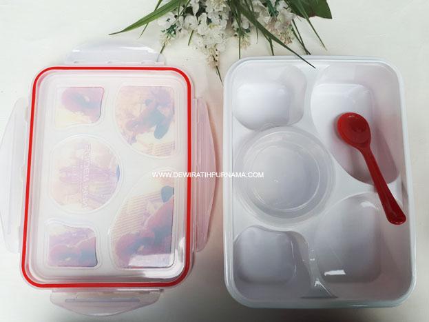 yooyee lunchbox kotak makan bersekat