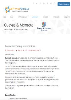 Perfil de Cuevas y Montoto Consultores en la página web de #PymesUnidas de España.