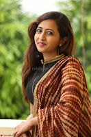 Lasya looks super cute in black choli Saree at Raja Meru Keka Press Meet ~  Exclusive 032.JPG