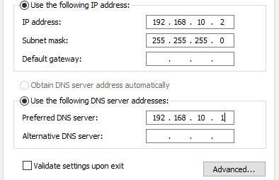 menambahkan dns server di sisi client