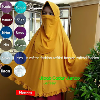jilbab syar'i cadar jumbo bahan jersey