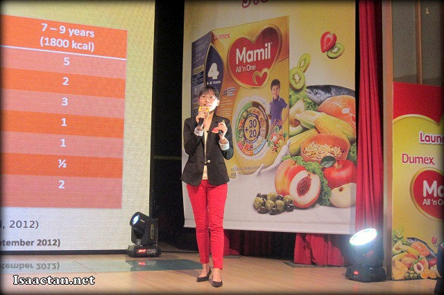 A presentation by Yvonne Tee, the Head of Scientific & Nutrition, R&D Danone Dumex (M) Sdn Bhd