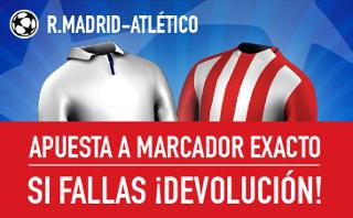 sportium promocion marcador exacto Real Madrid vs Atletico 2 mayo
