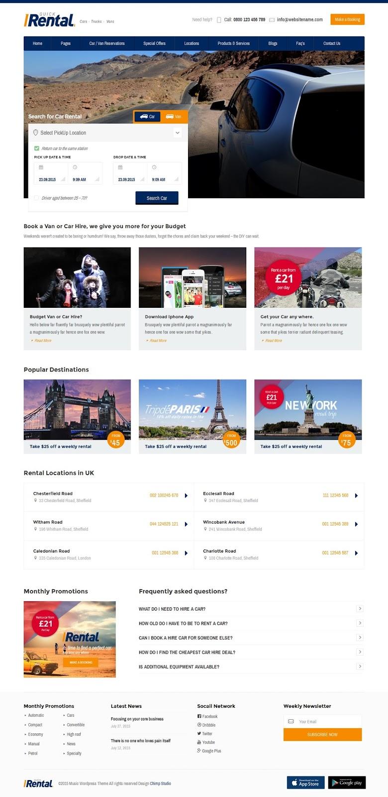Best Online Booking WordPress Theme