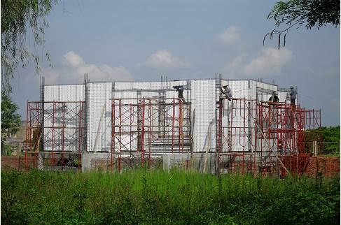 Nhà xây dựng bằng panel 3d cách âm, cách nhiệt, chống bảo