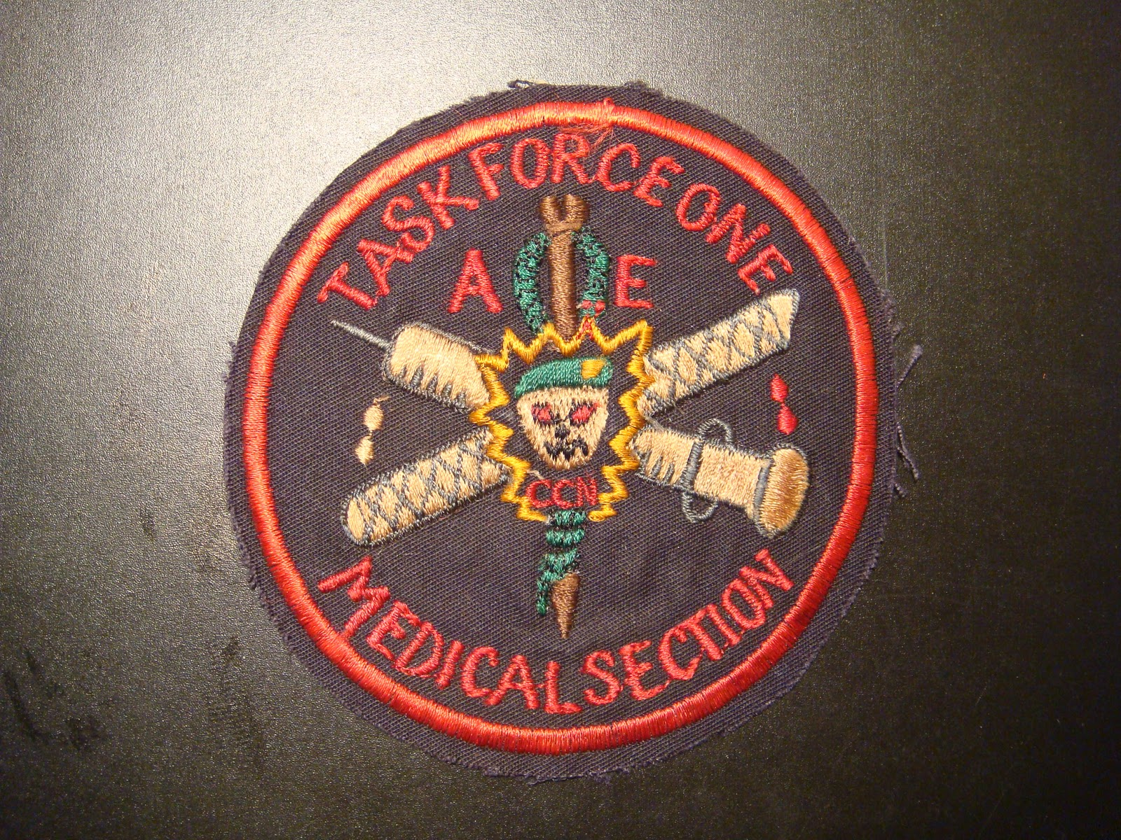 Bekleidung & Schutzausrüstung US Army 5th Special Forces Task Force 1 CCN COMMO TF1A Uniform patch Aufnäher