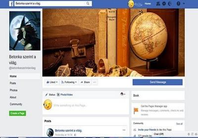 Betonka szerint a világ Facebook oldal