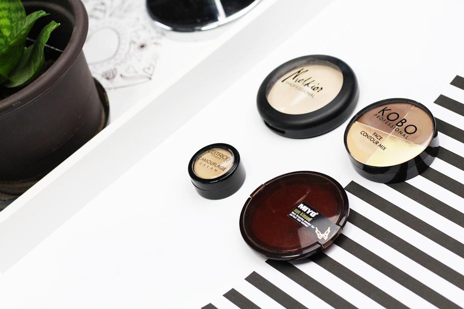 ulubieńcy, kosmetyki, bronzer, twarz, korektor, puder, farba, joanna, ulubiona farba, konturowanie twarzy, makijaż oczu