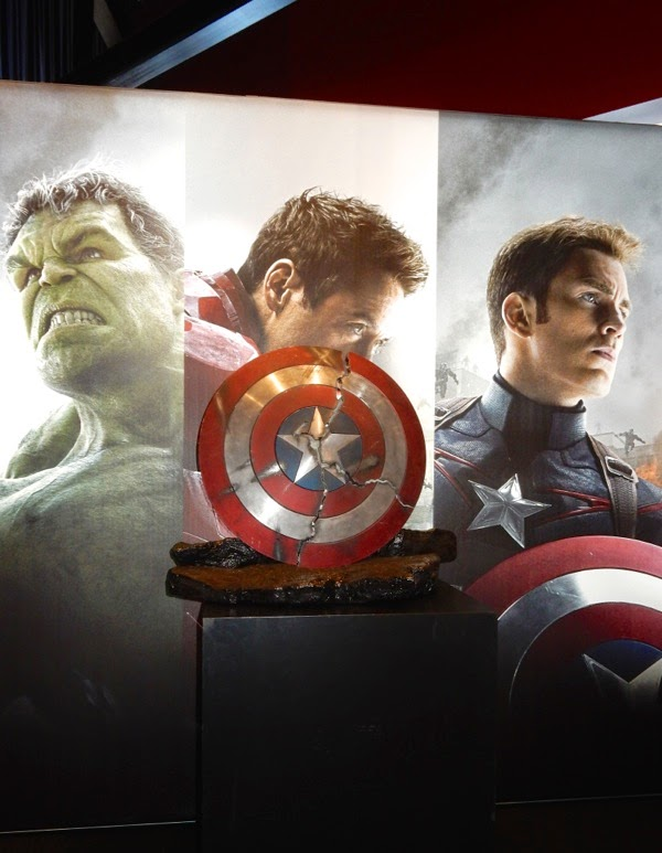 Captain America shield movie prop Avengers Age of Ultron