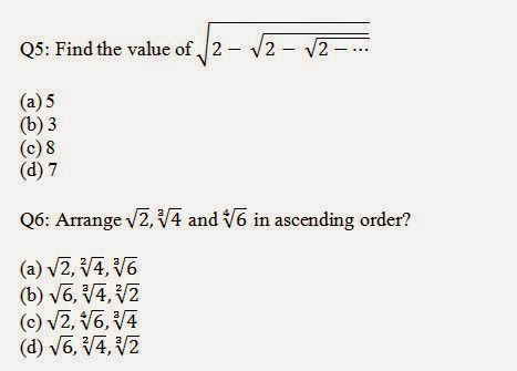 Surds and Indices Aptutude Problems and solutions