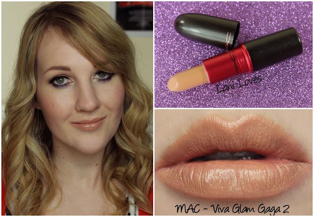MAC Viva Glam Gaga 2 lipstick swatch