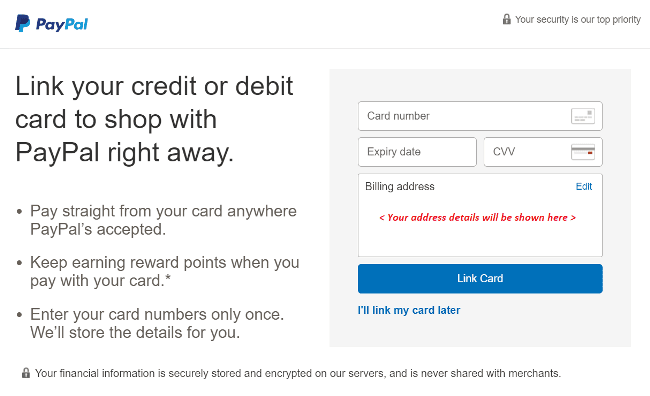 Step 5 Add your card details