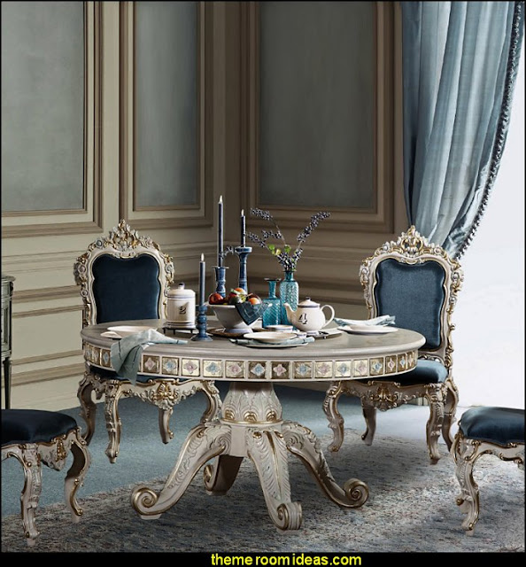 baroque European table Luxury bedroom designs - Marie Antoinette Style theme decorating ideas - French provincial furniture baroque style - Louis XVI furniture - Rococo furniture - baroque furniture - marie antoinette bedroom ideas - marie antoinette bedroom furniture