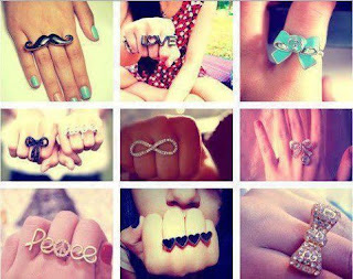 cute double ring collections