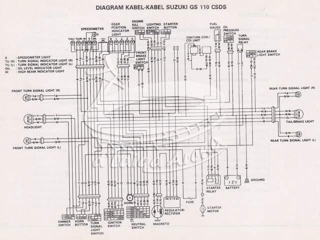 D U0026 39 Laiqa Arena  Diagram Kelistrikan Suzuki Tornado Gs 110