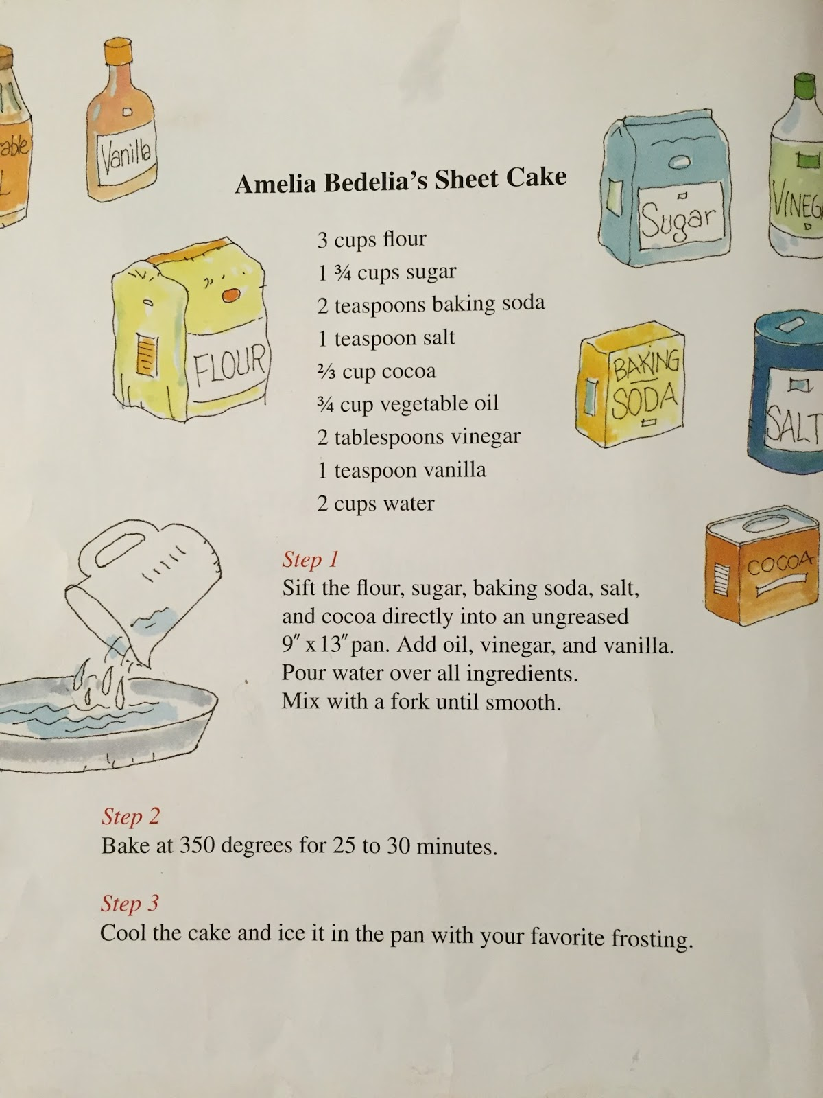 Anderson Mops Tasty Tuesday Amelia Bedelia S Sheet Cake