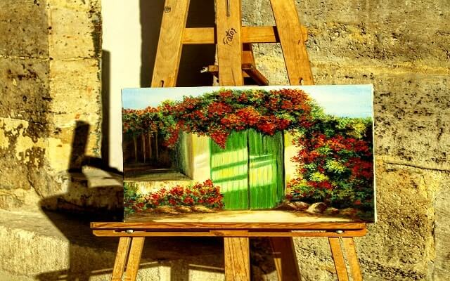Hayaller, resim, tuval, manzara