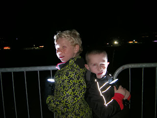 2 boy friends at firework display