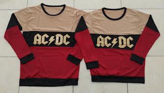 Jual Online Sweater ACDC Tridente Mocha Couple Murah Jakarta Bahan Babytery Terbaru