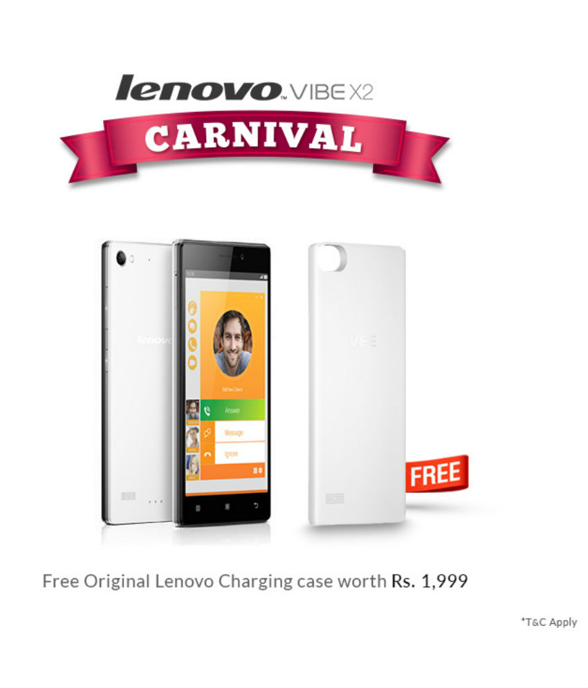 save off dbccc e13e6 Buy Lenovo Vibe X2 32GB White With Free Charging Case Lowest Price ...