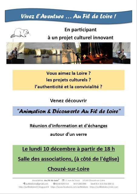 Réunion d'information sur le projet Animation & Découverte au Fil de Loire