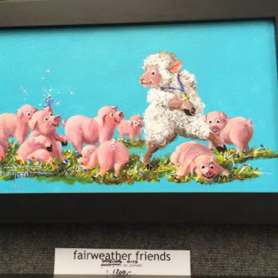 """fairweather friends"" Sheep Incognito by Conni Togel - Summerville Flowertown Festival 