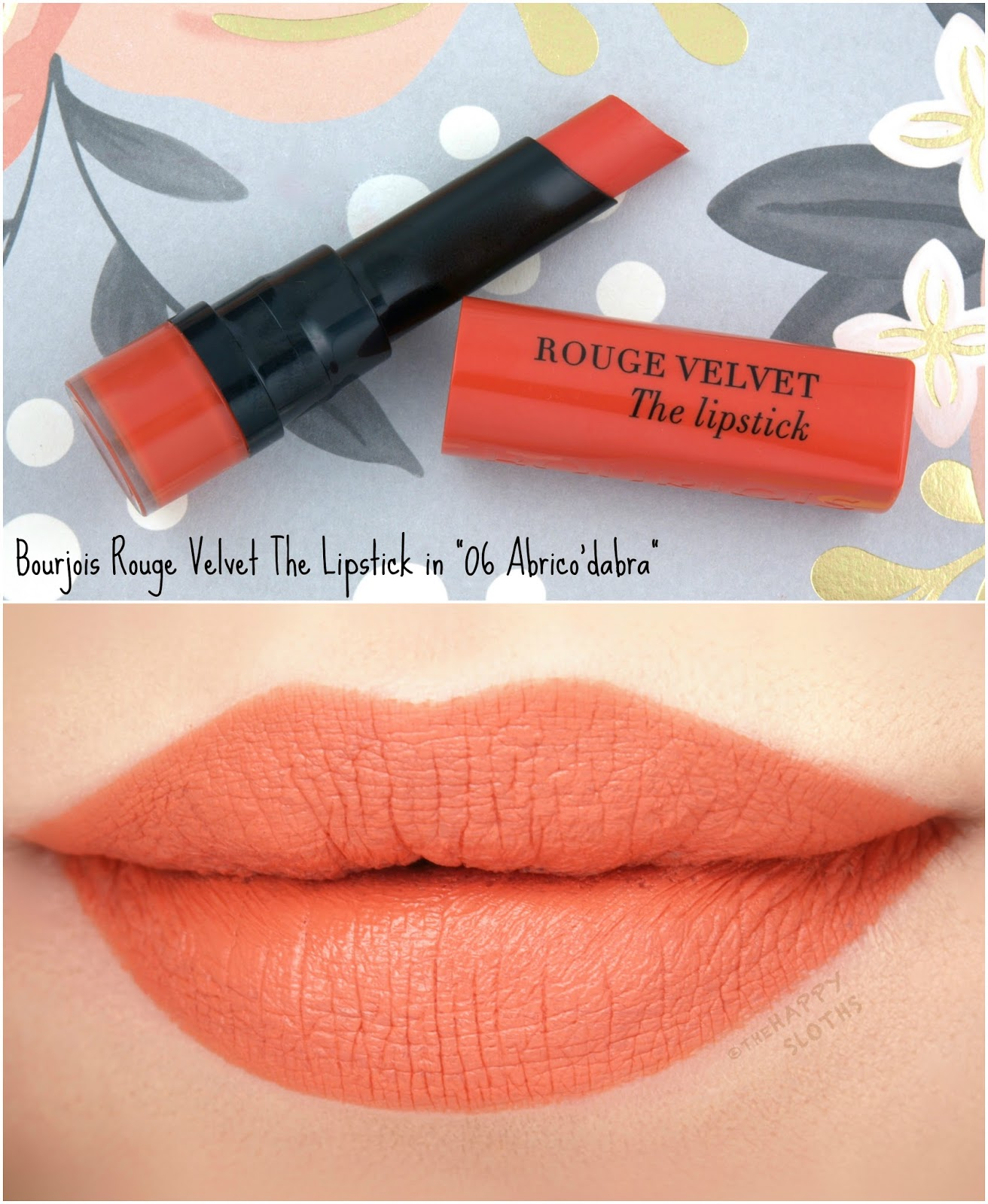 "Bourjois | Rouge Velvet The Lipstick in ""06 Abrico' dabra"": Review and Swatches"