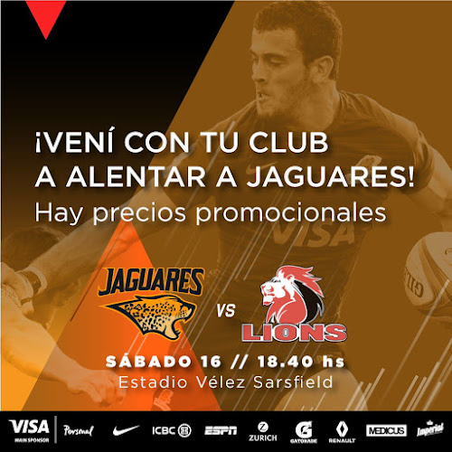 Vení con tu club a alentar a Jaguares #ViviJaguares #PersonalSuperRugby