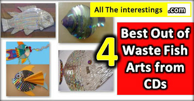 4 Best Out of Waste Fish Arts from CD Converting Old CD into Fish Art Decorations, cd decoration ideas, for school projects, cds dvds, hanging cd decor on wall