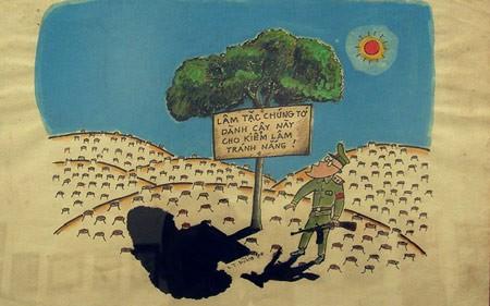 Tranh biếm họa lâm tặc, phá rừng