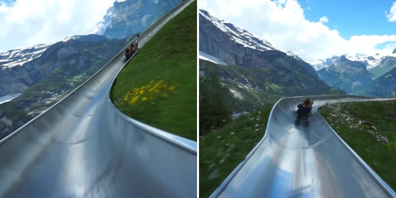 صور زحليقة جبال الألب
