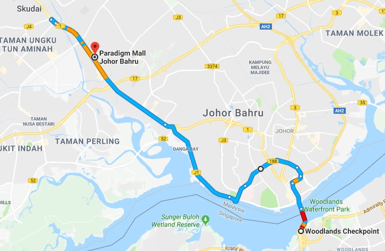 Observe the world around paradigm mall jb largest regional mall in after get out of jb check point pass by shell petrol station just keep right gumiabroncs Gallery