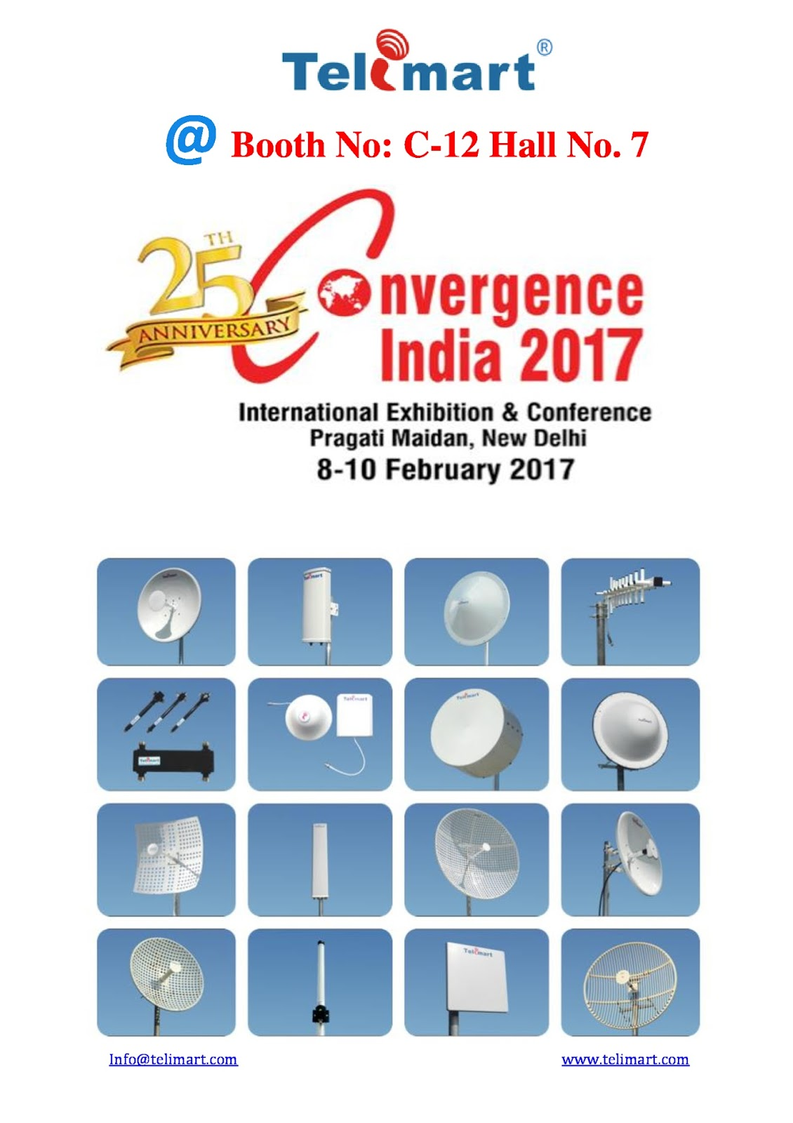 Telimart india pvt ltd please visit telimart india pvt ltd at please visit telimart india pvt ltd at 25th convergence india 2017 exhibition booth no c 12 hall no7 pragati maidan new delhi stopboris Choice Image