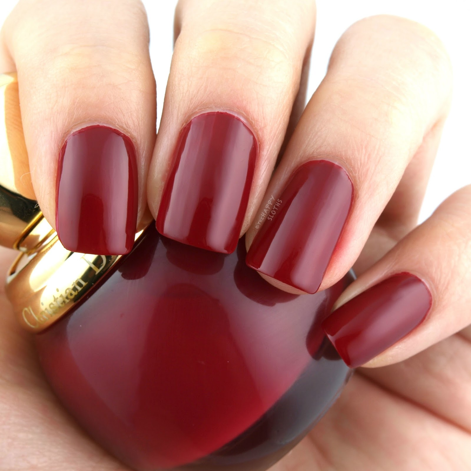 """Dior Holiday 2017   Dior Vernis in """"745 Grenat"""": Review and Swatches"""