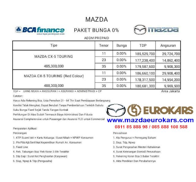 PAKET BUNGA 0% MAZDA CX-5 TOURING DODY
