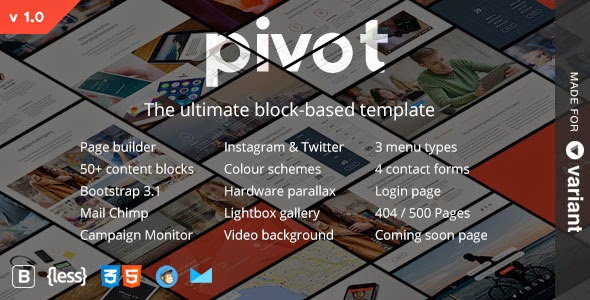 Pivot  Multipurpose Template with Page Builder