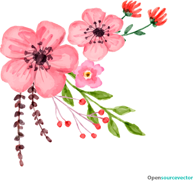 Pembe Çiçek Vektör