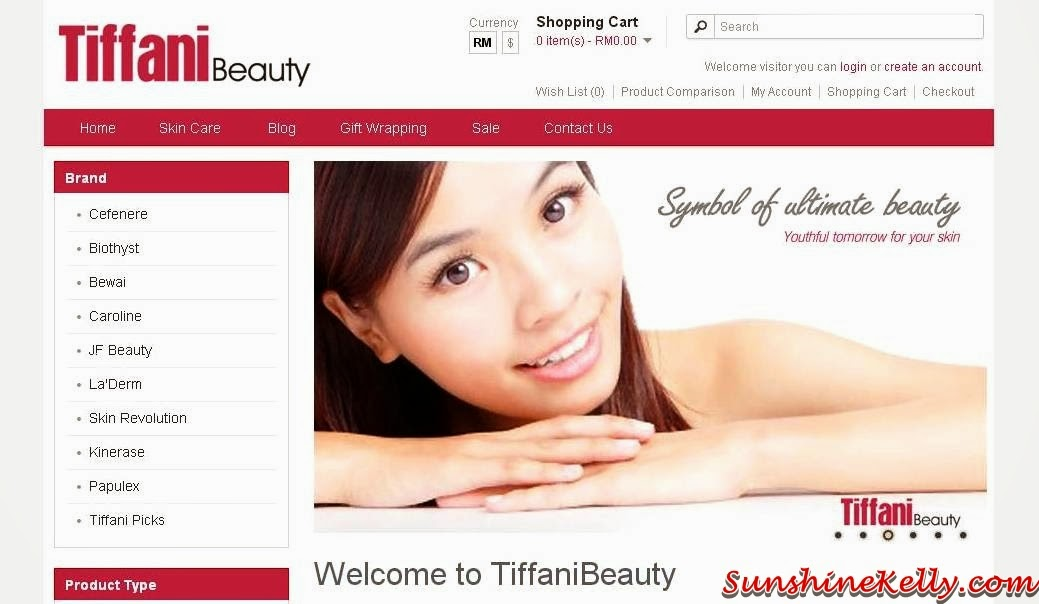 Quality Skincare Products Online, Tiffani Beauty, online beauty shop