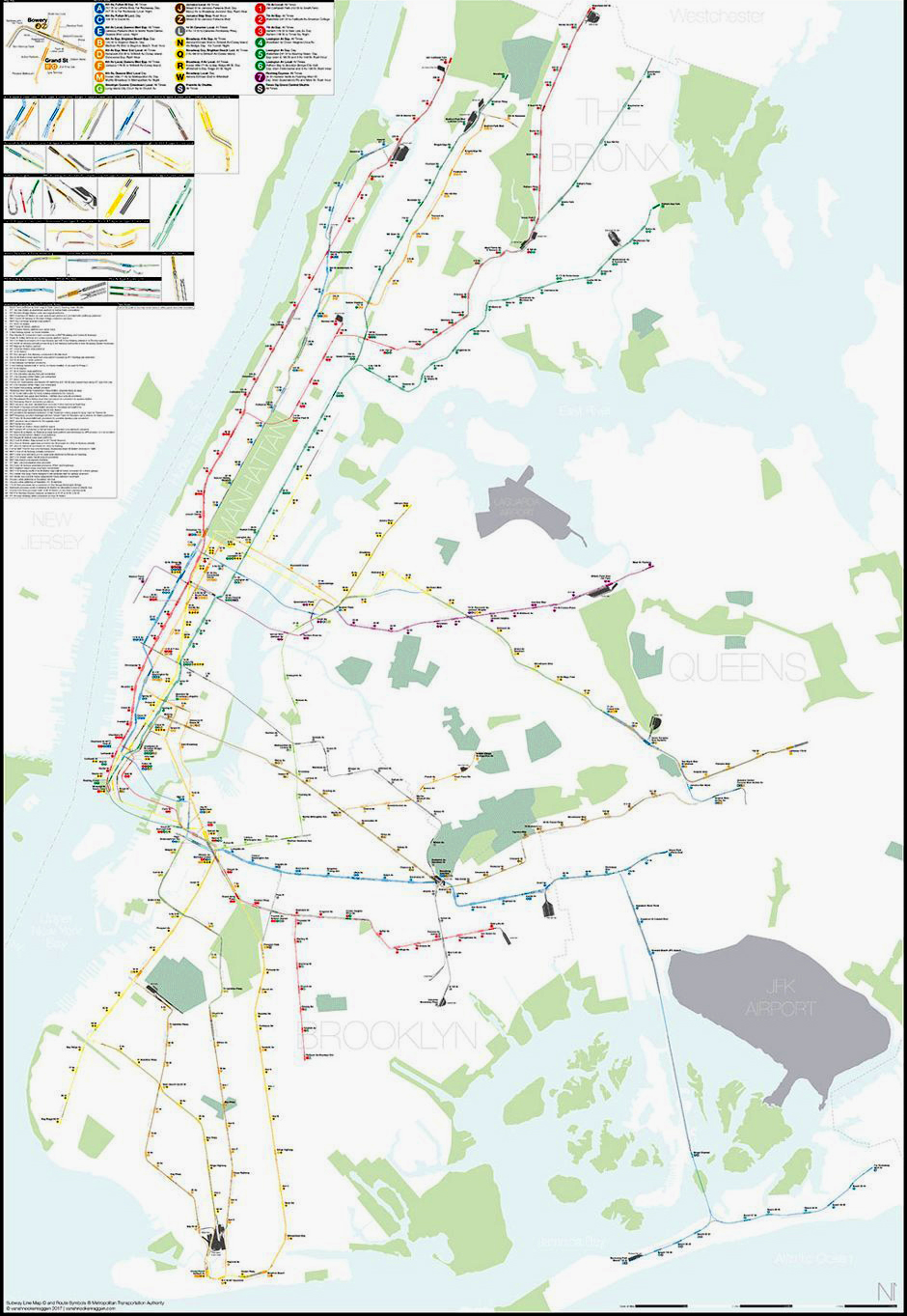 New York Subway Map Realistic.Just A Car Guy A Geographically Accurate New York City Subway Map