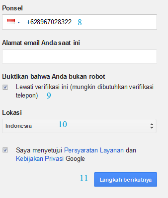 cara membuat akun google gmail