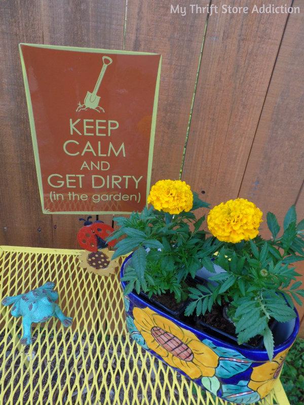 Signs of Spring at Secret Garden Herbs mythriftstoreaddiction.blogspot.com  Every spring garden needs bright blooms and fun signs!