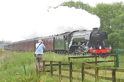 World famous loco Flying Scotsman at Elsham in June 2016 - picture on Nigel Fisher's Brigg Blog