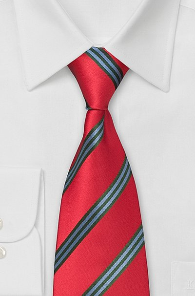 The Difference Between European and American Rep Stripe Ties