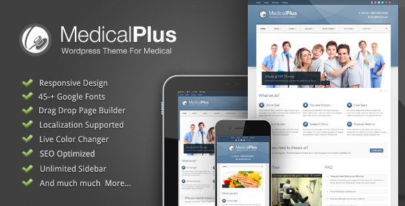 Responsive Medical and Health Theme