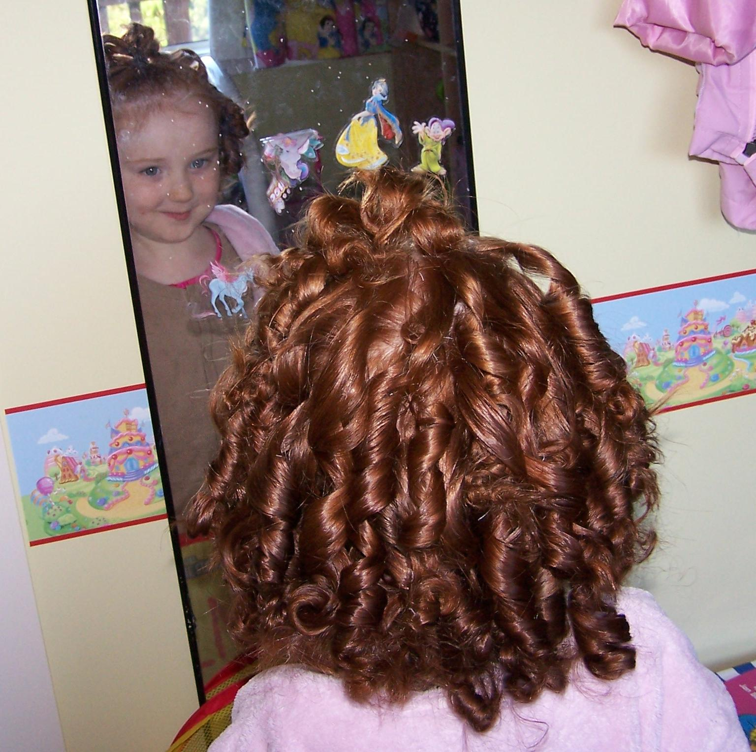 how to make rag curls in hair