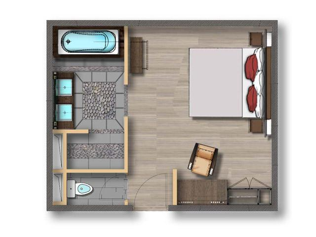 layout of hotel rooms 2. Black Bedroom Furniture Sets. Home Design Ideas