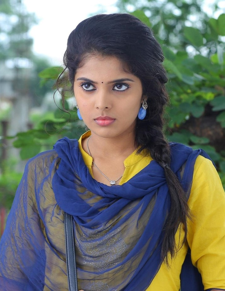 Actress Shravya Stills In Yellow Churidar Salwar Kameez