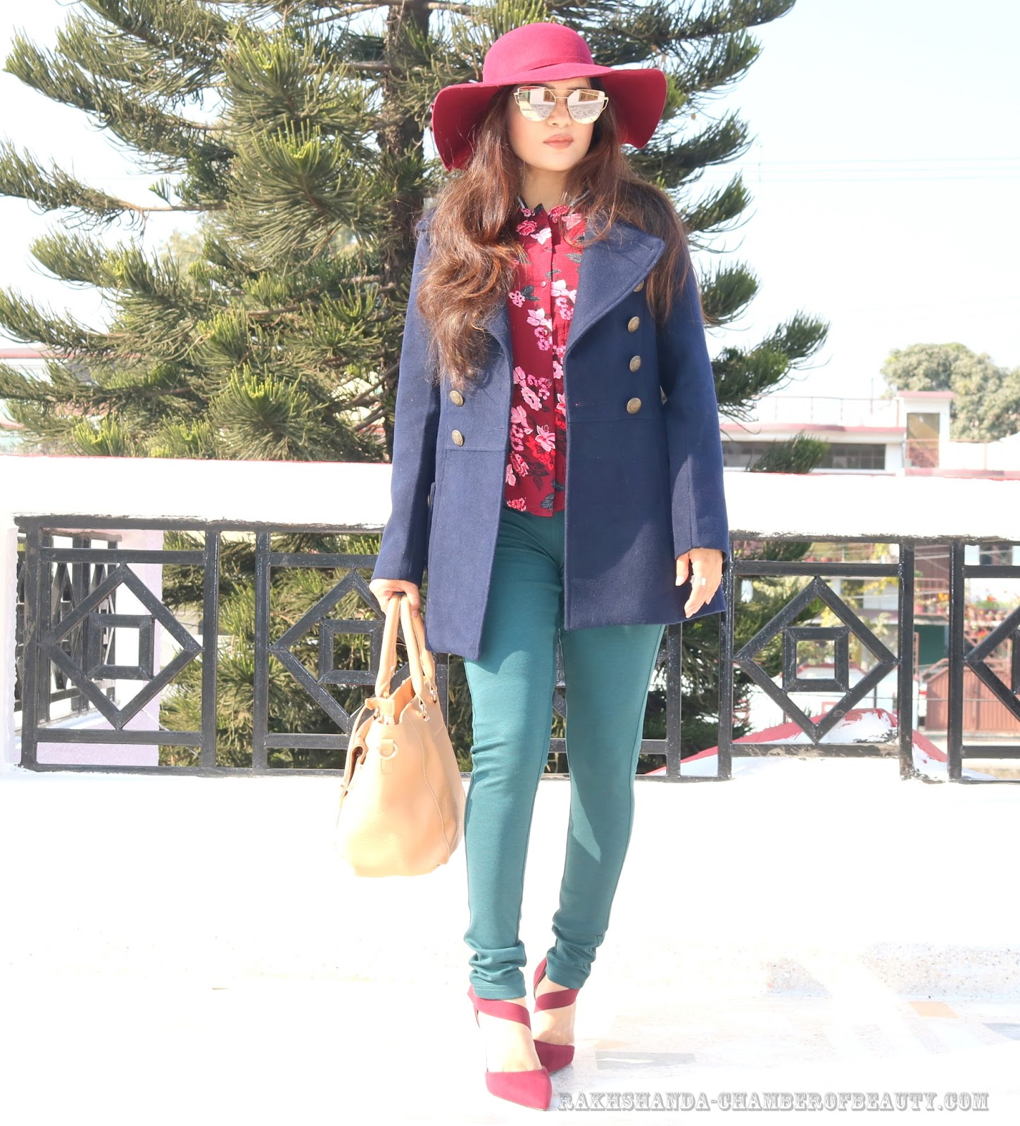 Fashion blogger/rakhshanda-chamberofbeauty/Max fashion/how to style printed shirt in winter